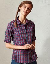 Ladies Sidehill Check Long Sleeve Cotton Shirt