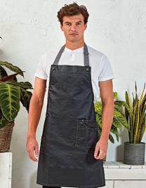 District Waxed Look Denim Bib Apron